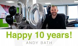 Congratulations Andy Bath on 10 years at Elevation Recruitment Group