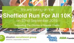 Elevation Recruitment Group is taking on the Sheffield 10K to raise money for The Children's Hospital Charity