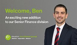 Exciting New Hire as Elevation Continues to Grow Successful Senior Finance Division