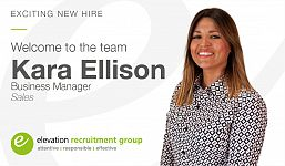 Exciting New Hire as Elevation Continues to Grow our Successful Sales Division