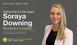 Exciting New Hire as Elevation Continues to Grow our Accountancy and Finance division.